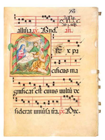 A Formidable Choir Book in its Original Binding, 1550