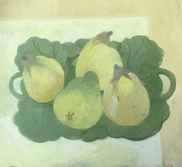 Quinces on a Leaf Plate