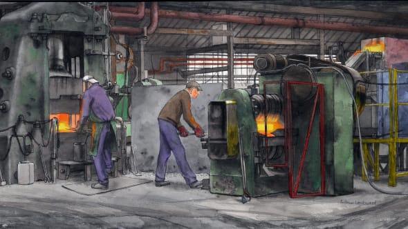 Drop Hammer, Stokes Forgings Dudley Ltd