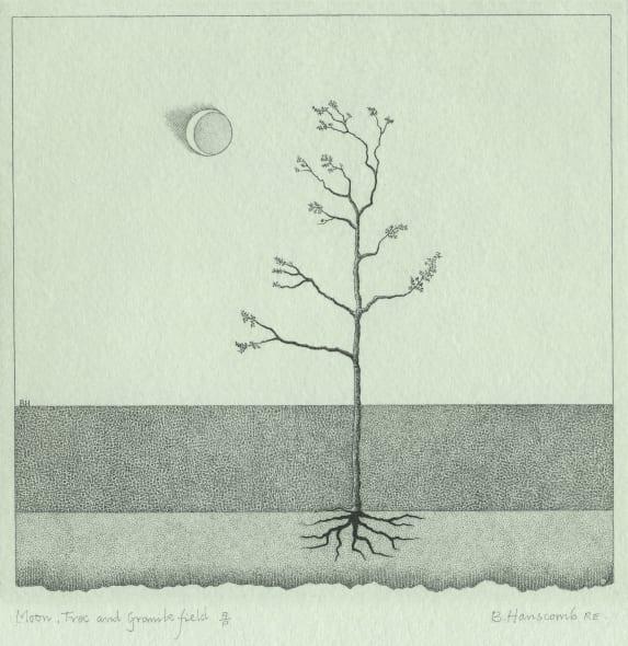 Moon, Tree & Granite Field