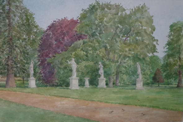 Towards the Statues, Wrest Park