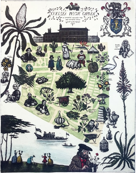 Map of the Chelsea Physic Garden