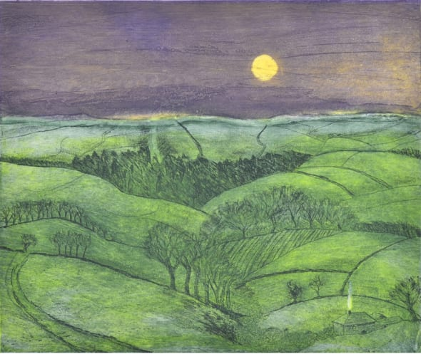 Moonrise over Exmoor