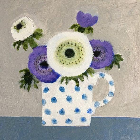 Anemones in a Spotty Mug