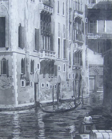 Black Canal in Venice