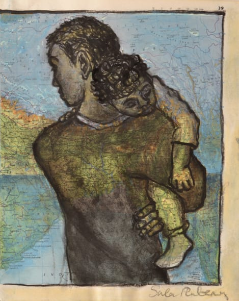 Kin Study - Youth carrying Sleeping Child