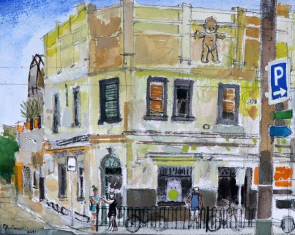 Melbourne, Corner of Brunswick Street and Rose Street