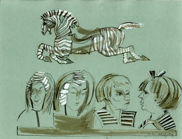 Zebra at the Hairdresser's