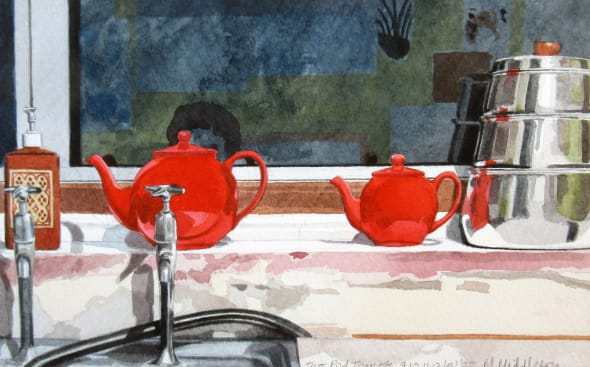 Two Red Teapots