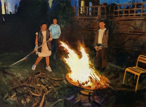 Lockdown bonfire (23.4.20) II