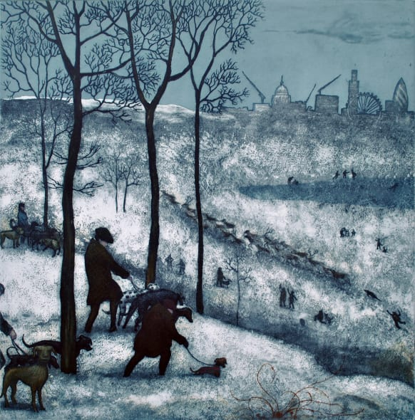 Richmond Park - Winter, after Bruegel