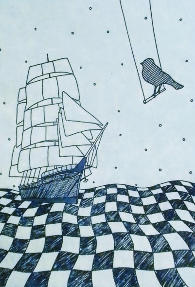The Ship and the Bird Blue