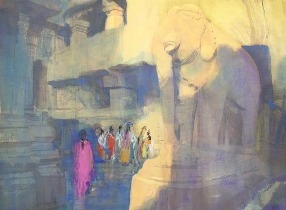Girl in a Jain Temple