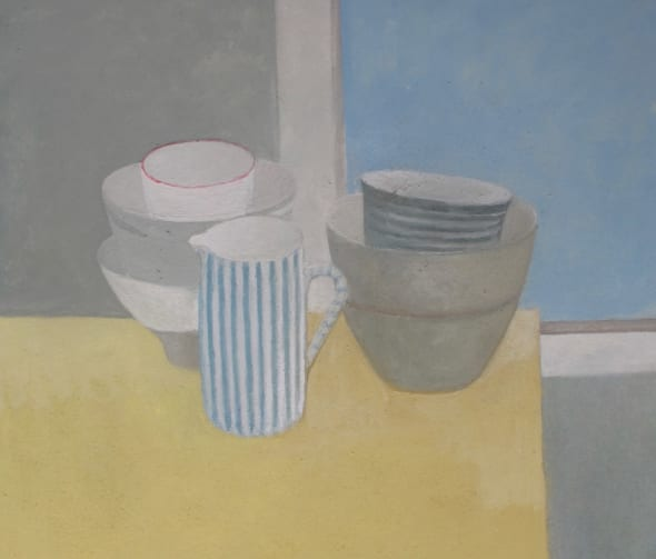 Still Life: Grey, Yellow and Blue