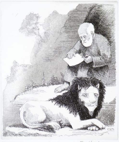 Man, Lion