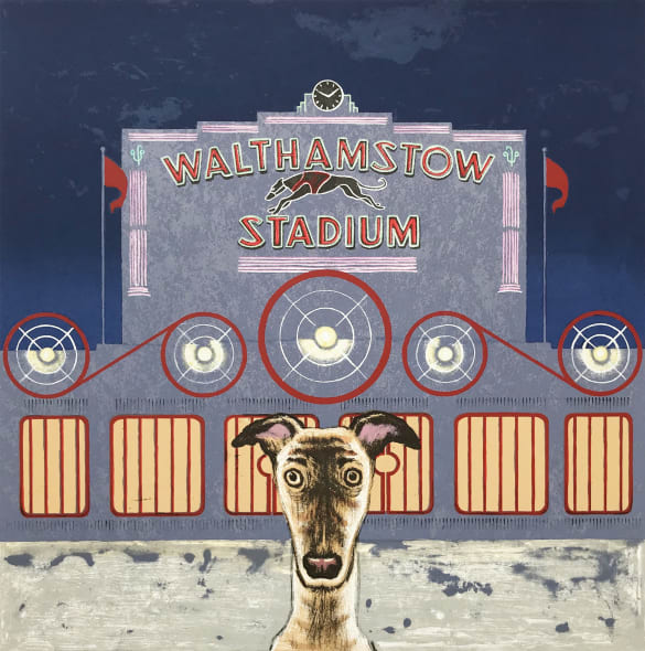 Wes Anderson's dog - Walthanstow Stadium (large picture submission)