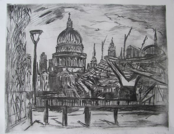 St. Paul's and the Millennium Bridge from Bankside