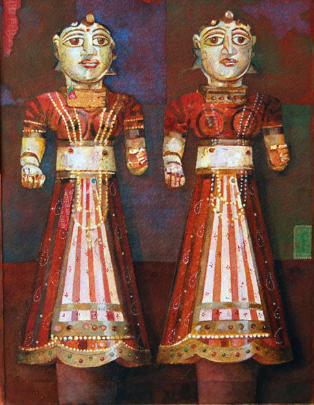 Two Wood Figures