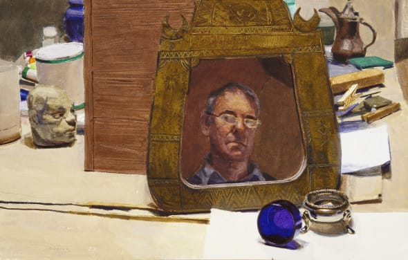 Studio with Self Portrait