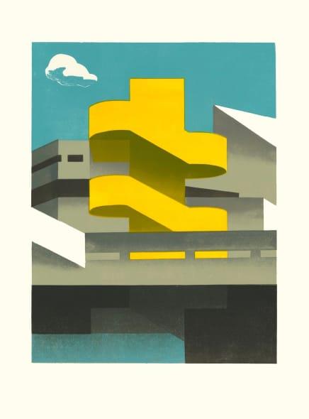 Southbank Steps Yellow