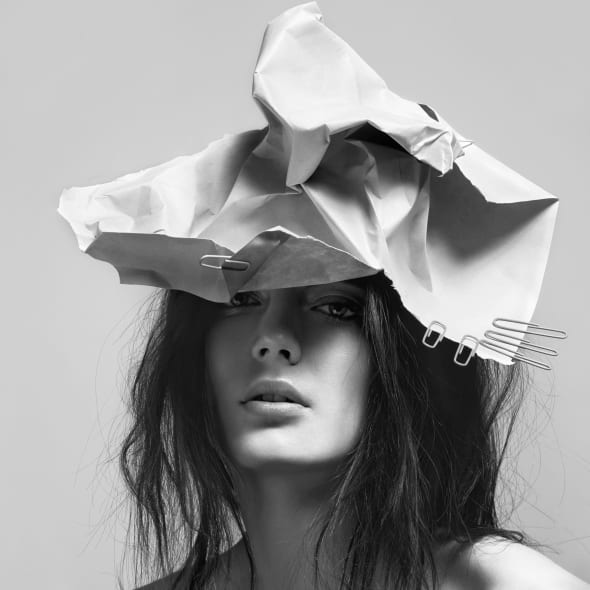 """Detail of Ulrich Knoblauch's """"Paper Hat"""""""