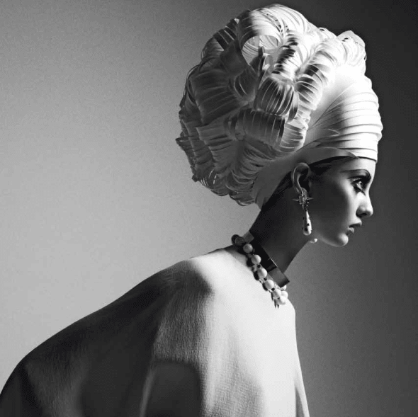 "Detail from fine art photographer Greg Lotus' ""Paper Do, Italian Vogue"" fiber-base cotton paper with matte finish"