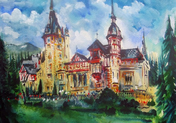 Peleș Castle near Sinaia, Romania