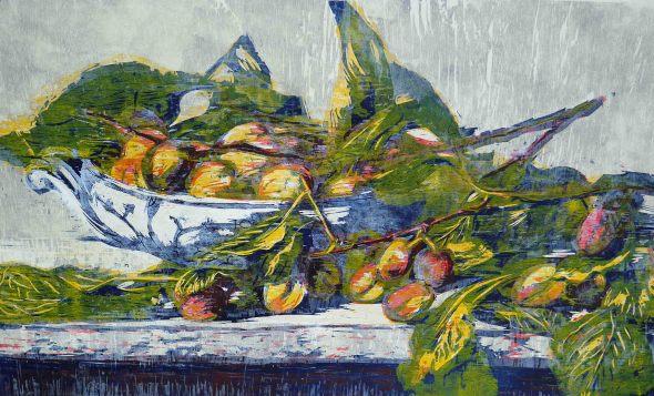 September Fruits on Copenhagen Dish