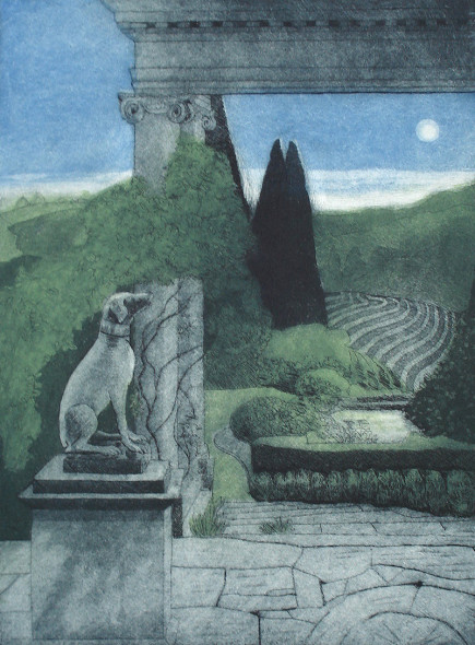 Moonrise, Iford Manor