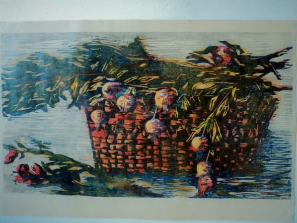 Pomegranate Basket LARGE WORK