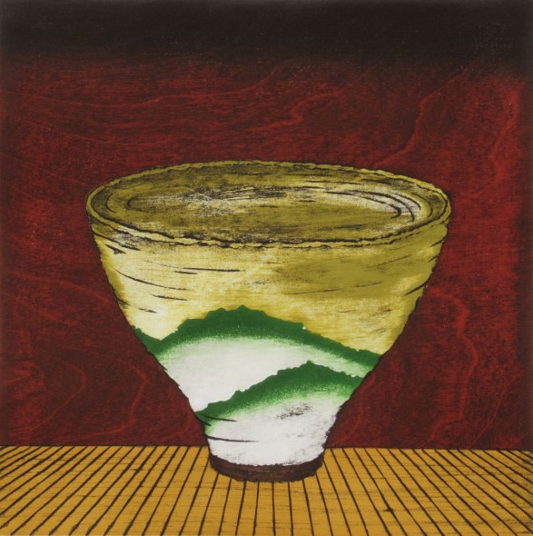 Study, Tea Bowl -Green Mountains-