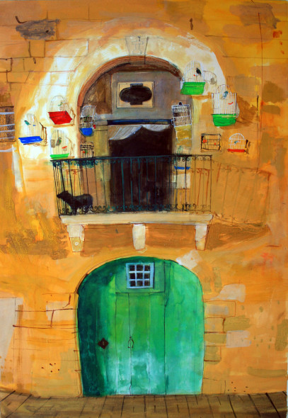 Dog on Balcony, Marsaxlokk