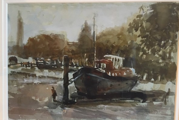 Barge at Strand on the Green, Chiswick