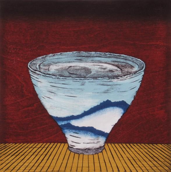 Study, Tea Bowl -Blue Mountains-