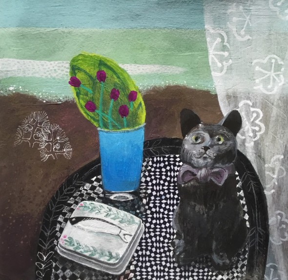eBay Cat with Sardine Box