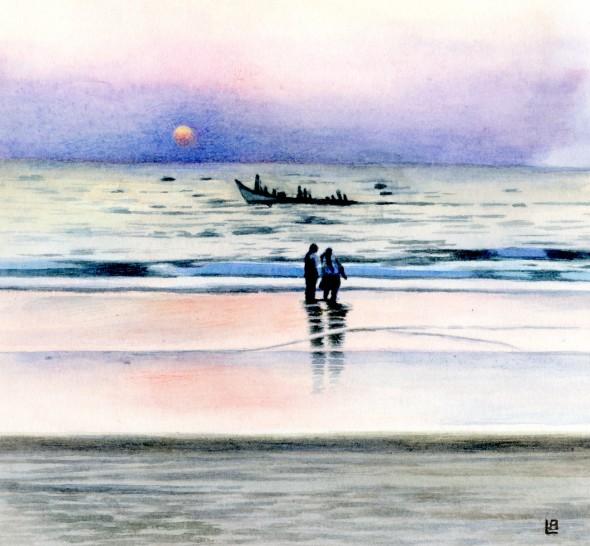 Sundown on the Arabian Sea
