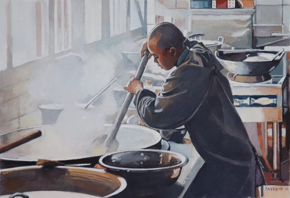 Nun Cooking, Caoshan Temple Kitchen