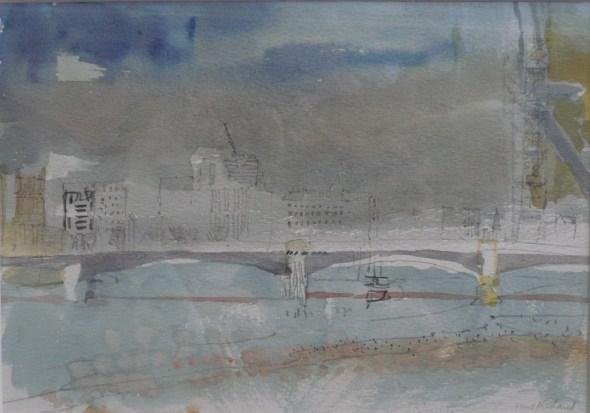 River, Bridge, Haze
