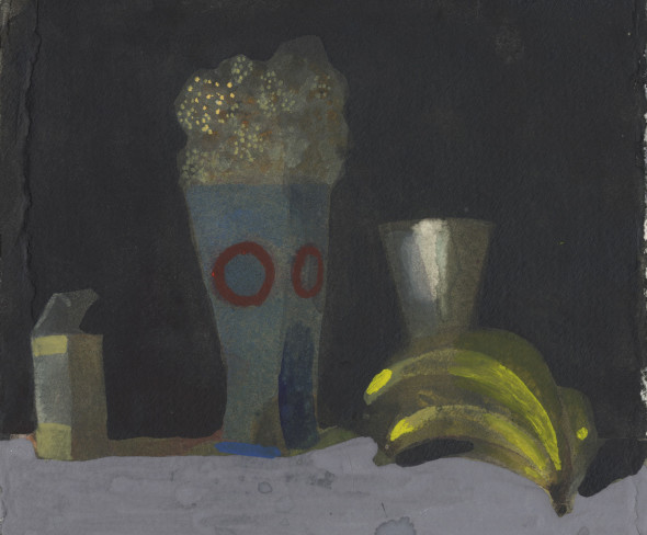 Still Life with Flowers & Bananas