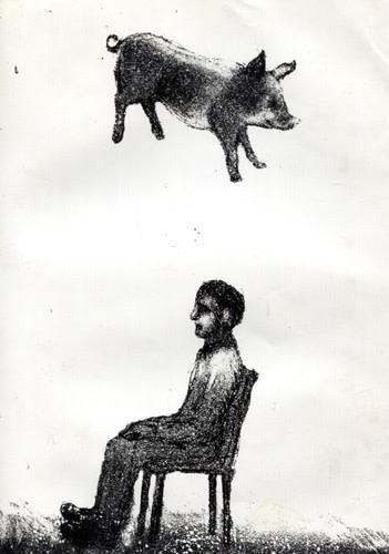 Falling Pig