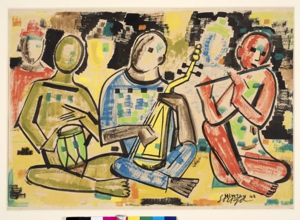Francis Newton Souza, Musicians, 1948