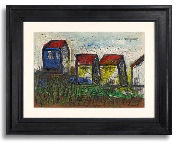 Francis Newton Souza, Houses, 1956