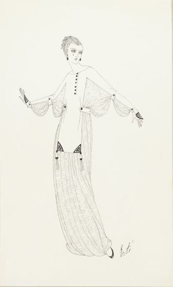 Romain de Tirtoff dit Erté, Evening dress for Harper's Bazaar, 1915