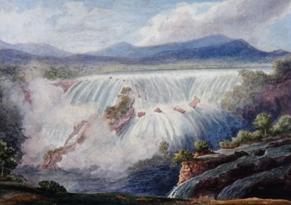 Company School Waterfall, 19th Century Watercolour on paper 29.5 x 41.5 cm 11 5/8 x 16 3/8 in