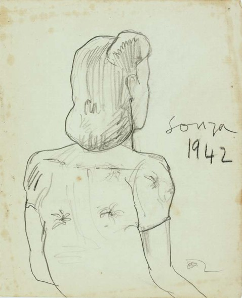 Francis Newton Souza, Untitled, 1942