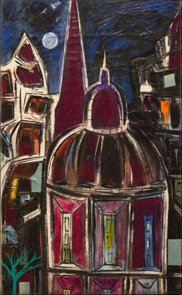 Lancelot Ribeiro, Purple Landscape, 1964