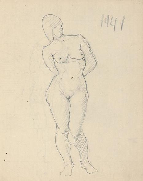 Francis Newton Souza, Untitled (Nude figure), 1941
