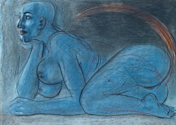 Dhruva Mistry, Blue Figure, 1983