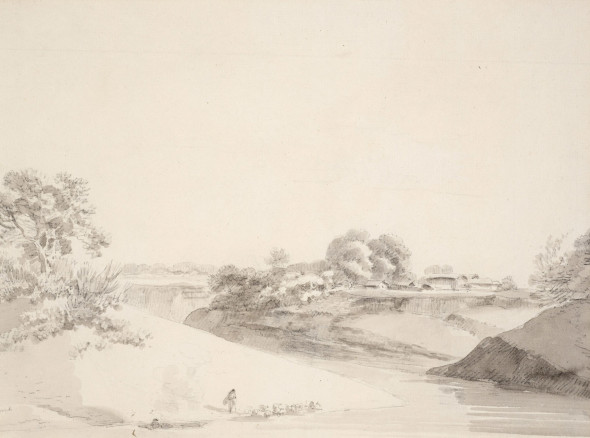 William Daniell, An Indian River Scene