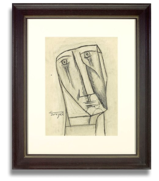 Francis Newton Souza, Untitled (Study for Figure at the Base of the Cross), 1956
